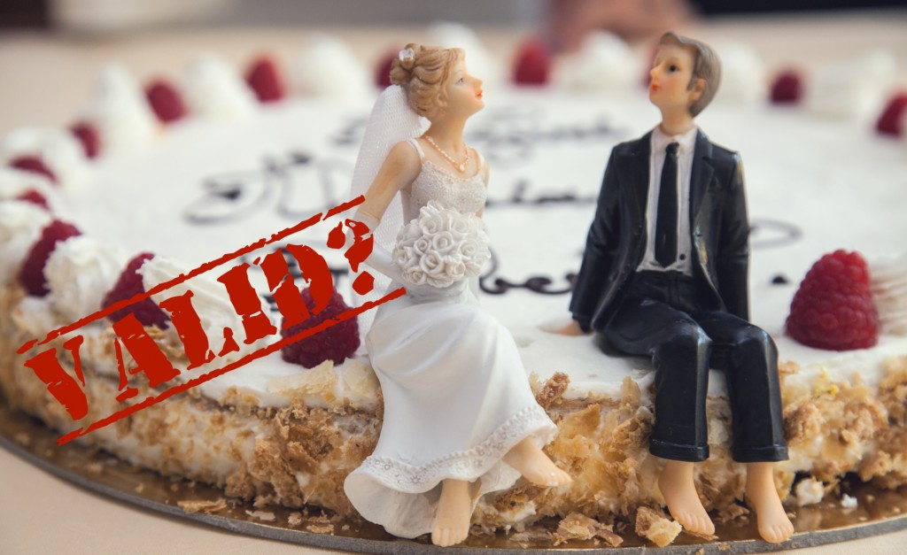 The validity of a marriage taking place outside of UK